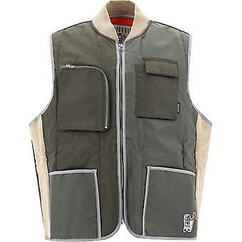 Billionaire B20109oliveshell Men's Green Nylon Vest