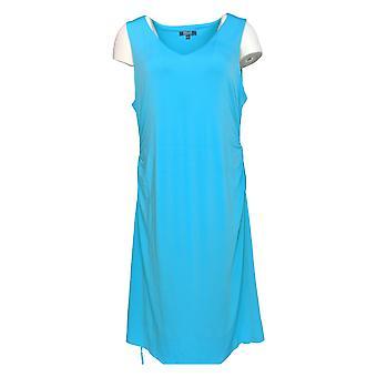 Kelly by Clinton Kelly Dress Sun Dress w/ Tie Belt Blue A276366