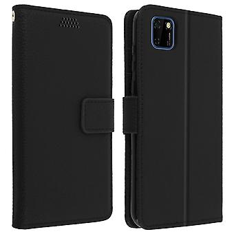 Protective Case for Huawei Y5p Folio with Video support - Black