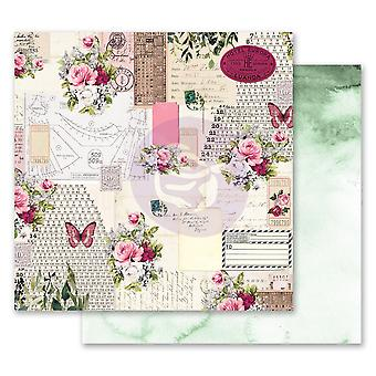 Prima Marketing Misty Rose 12x12 Inch Paper Pack Scented Love Letters