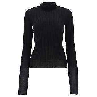 Acne Studios A60114black Women's Black Viscose Sweater