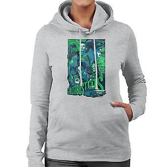 Ghostbusters Comic Style Poster Women's Hooded Sweatshirt