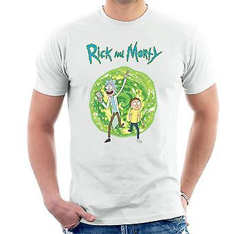 Rick e Morty camminando attraverso il portale uomini's T-Shirt