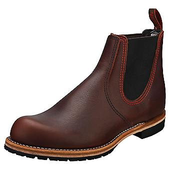 Red Wing Rancher Miesten Chelsea Saappaat Ruskea