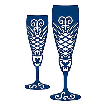 Tattered Lace Champagne Glasses Die Set