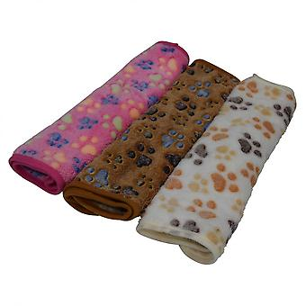 Plaid Cover Brown Print Paw Wasbare Hond Pet Pet Cat