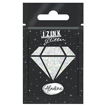 Aladine Izink Glitter Silber Sterne