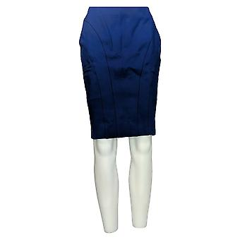 Shape FX Skirt Shape FX Ponte Knit Pencil Skirt w/ Seam Detail Blue A272120
