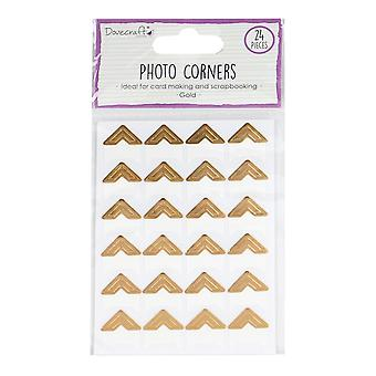 Dovecraft Essentials Photo Corners Gold