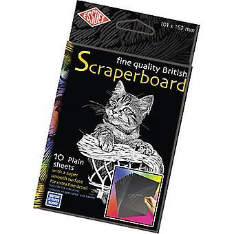 Essdee White Foil Scraperboard 152x101mm 10 Pack