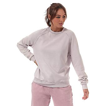 Women's Pink Soda Sport Wash Crew Neck Sweatshirt in Purple