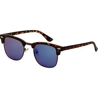 Sunglasses Unisex Turtle with Blue Mirror Lens (AZ-2210)
