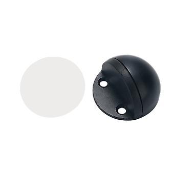 Floor Round Stainless Steel Door Stopper Black