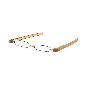 Reading Glasses Unisex Breaker Brown Strength +2.00 (le-0128A)