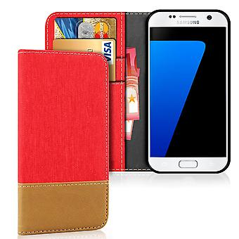 Samsung Galaxy S7 Jeans Shockproof Card Holder TPU Phone Mobile Phone Cover Mobile Case