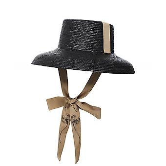 Ferruccio Vecchi Woven Straw Ribbon Hat