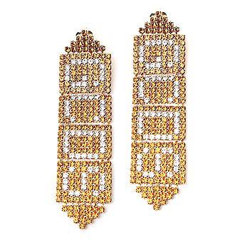 Gcds Fw21w01013616 Dames's Gold Brass Oorbellen