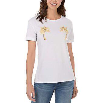 Carbon Copy | Embroidered Palm-Tree T-Shirt