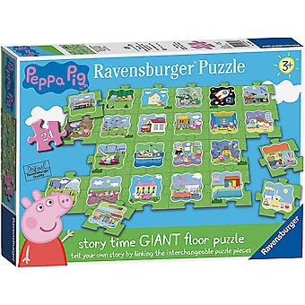 Ravensburger Peppa Pig - Tell a Story 24pc Giant Floor Jigsaw Puzzle