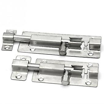 1.5/2/3/4/6 Inch Long Silver Stainless Steel Door Latch Sliding Bolt Hasp Staple Gate Safety