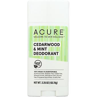 Acure Deodorant Stick, Cedarwood & Mint 2.25 Oz