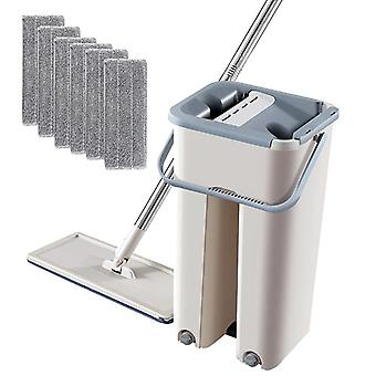 Automatic Hand Washing Microfiber Cleaning Floor Mop And Bucket