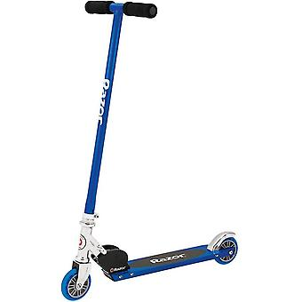 Razor S Sport Scooter, Real Steel Unisex Kick Scooter - Blue, for age 6 year and