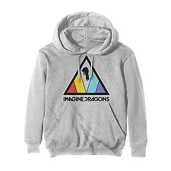 Imagine Dragons Hoodie Triangle Band Logo Official Off White Pullover Unisex