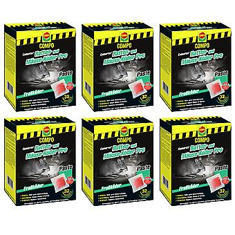 Sparset: 6 x COMPO Cumarax® rat and mice bait Pro, 480 g