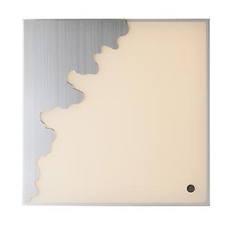LED Dimmbare Square Flush dekorative Deckenleuchte, Silber, weiß, Sprachsteuerung, 3000- 4000-6000K