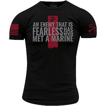 Grunt Stil USMC - nie Met ein Marine T-Shirt - schwarz