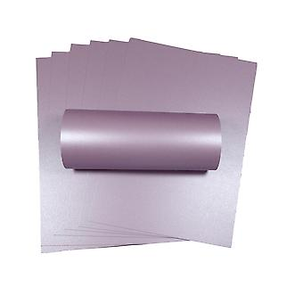 10 Sheets of A4 Tea Rose Pearlescent Double Sided Card 300gsm