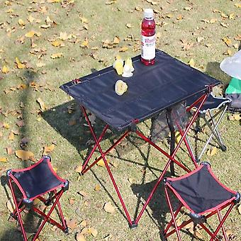 Outdoor Folding Ultra-light Aluminum Alloy Portable Camping Picnic Table