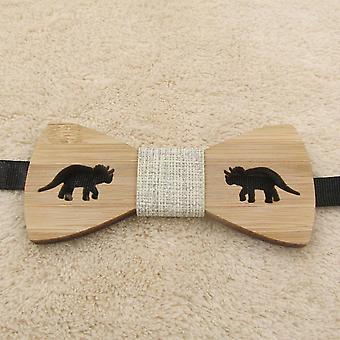 Children Kids Bow Tie For Accessories, Wooden Dinosaure For, Neck Wear