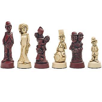 Berkeley Chess Movie Stars Cardinal Chess Men
