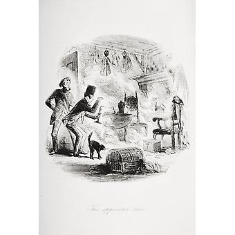 The Appointed Time Illustration By Phiz (Hablot Knight Browne) 1815-1882 From The Book Bleak House By Charles Dickens Published London 1853 PosterPrint
