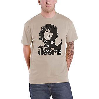 The Doors Mens T Shirt Sand Jim Morrison Break On Through band logo Official