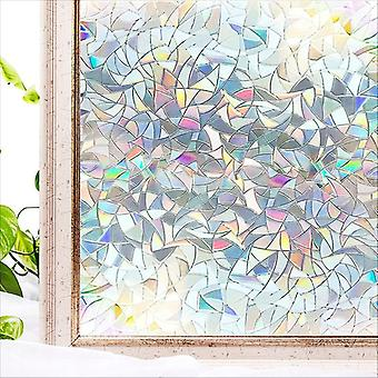 Window Film Rainbow Effect Privacy Static Glass Sticker Adhesive Heat Transfer