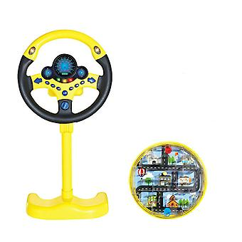 Children Steering Wheel with Light Educational Developing Baby Simulation Copilot Traffic Driving Car Gift Kids Toys
