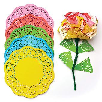 Baker ross ev191 coloured paper doilies value pack — creative art supplies for children, crafts