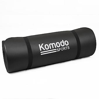15mm Yoga Exercise Mat - Black