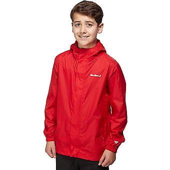 Nieuwe Peter Storm Boy's packable waterdichte jas Kids jas rood