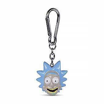 Rick és Morty 3D Schl3sselan- h'nger Rick kék, nyomtatott, fém / műanyag.