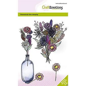 Artesanato Selos Claros A6 - Vaso de Flores Secas 2 GB Selo Dimensional