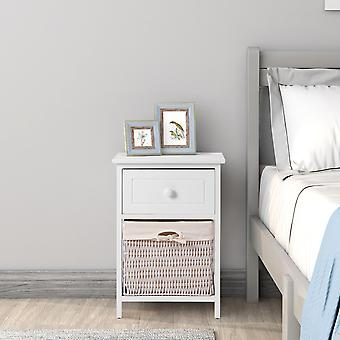 Nightstand Bedside Table With Basket