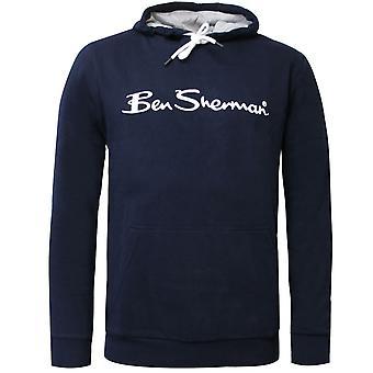 Ben Sherman hombres logotipo sudadera con capucha jumper navy 0060888 NVY