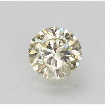 Sertifioitu 0,50 karat J VS2 pyöreä brilliant parannettu luonnollinen timantti 5.11mm 3VG