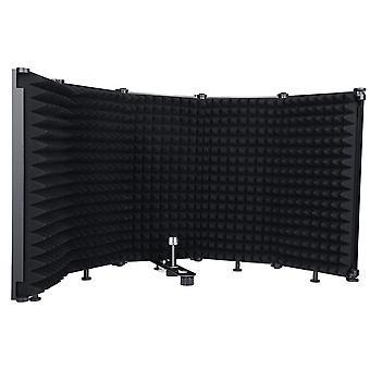 Mikrofon szigetelés pajzs 5 paneles szél képernyő (fekete)