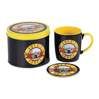 Guns N' Roses Logo Mug and Coaster Set in Gift Tin