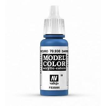 Vallejo Model Color 17ml Acrylic Paint - 930 Dark Blue